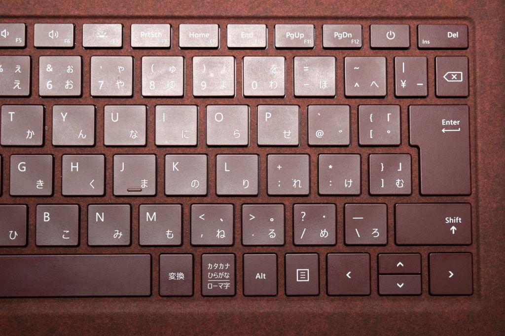 Surface Laptopキーボード 右側拡大