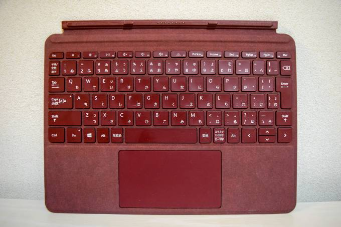 Surface Go タイプカバーのキー配置