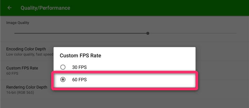 『30FPS』 ▶ 『60FPS』に変更